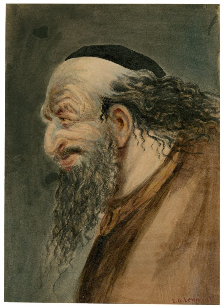 Shylock, from Merchant of Venice by E.G. Lewis, 1863. (Image: Folger Shakespeare Library)