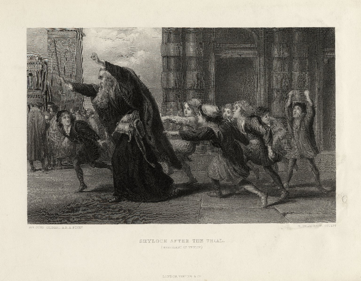Shylock After the Trial by John Gilbert. (Image: Folger Shakespeare Library)
