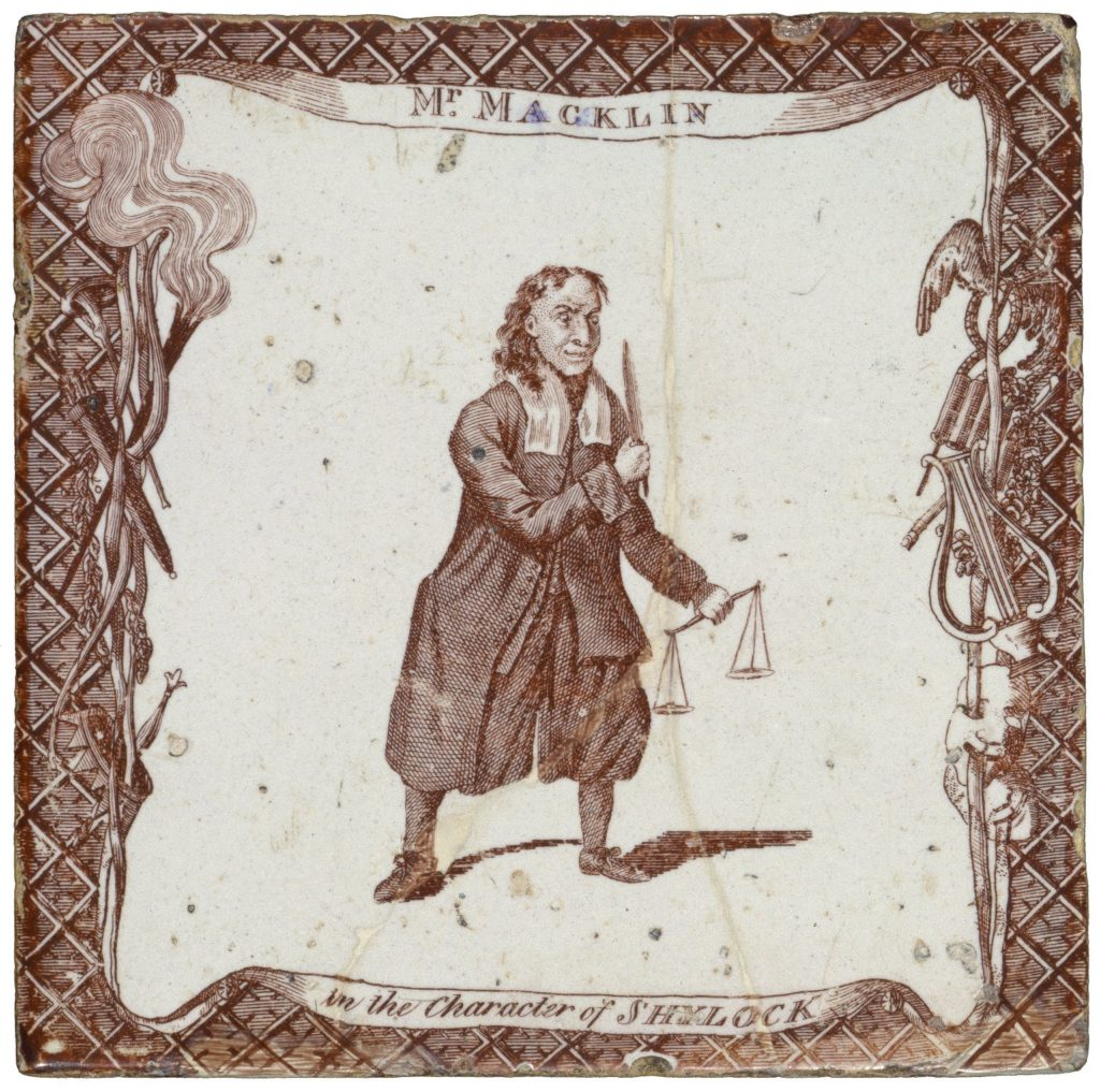 Charles Macklin as Shylock (Image: Folger Shakespeare Library)